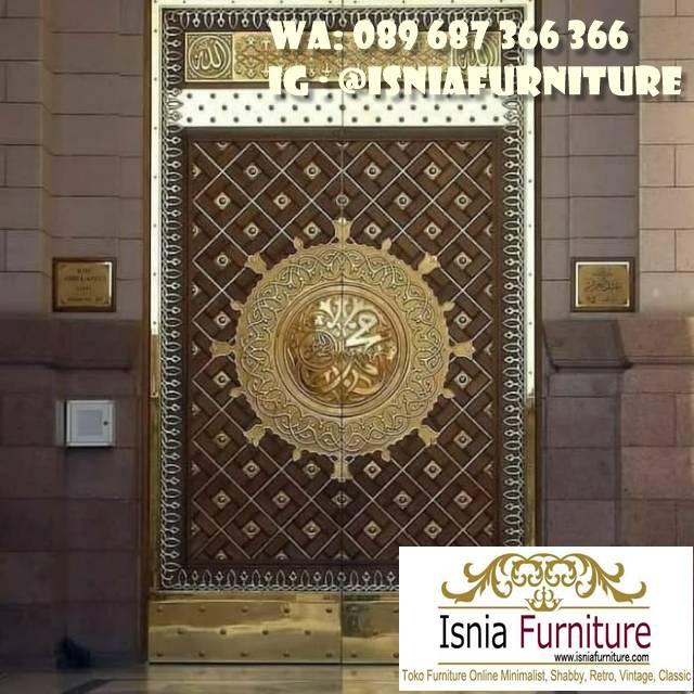 pintu-masjid-nabawi-kayu-jati-solid-ukiran Jual Pintu Masjid Nabawi Kayu Jati Mewah Murah