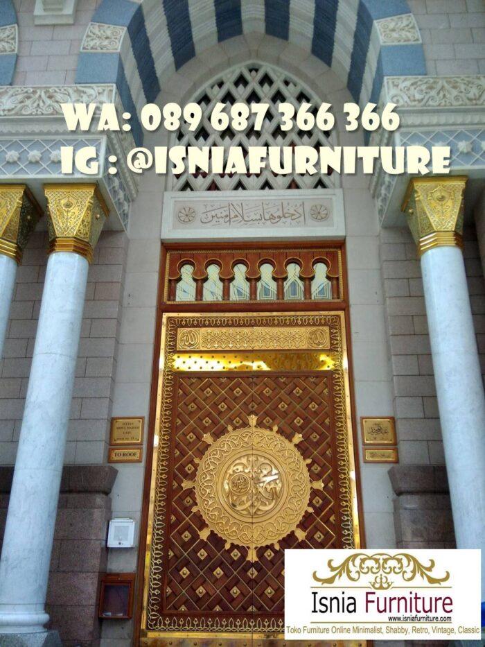 pintu-masjid-nabawi-kayu-jati-ukiran-minimalis-700x933 Jual Pintu Masjid Nabawi Kayu Jati Mewah Murah
