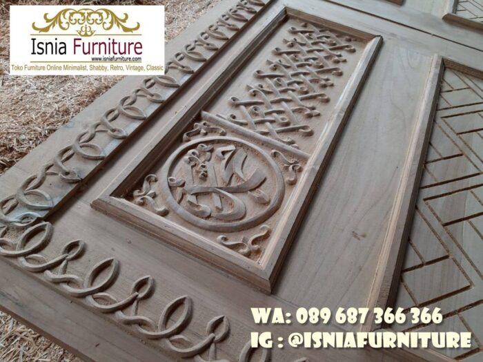 pintu-masjid-nabawi-ukiran-kayu-jati-solid-700x524 Jual Pintu Masjid Nabawi Kayu Jati Mewah Murah