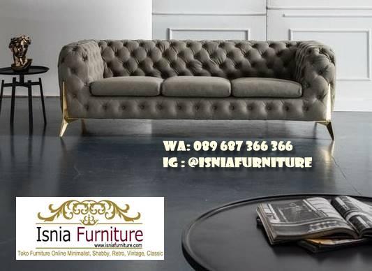 sofa-elegan-minimalis-desain-kaki-stainless-besi Sofa Elegan Minimalis Murah Paling Terpopuler
