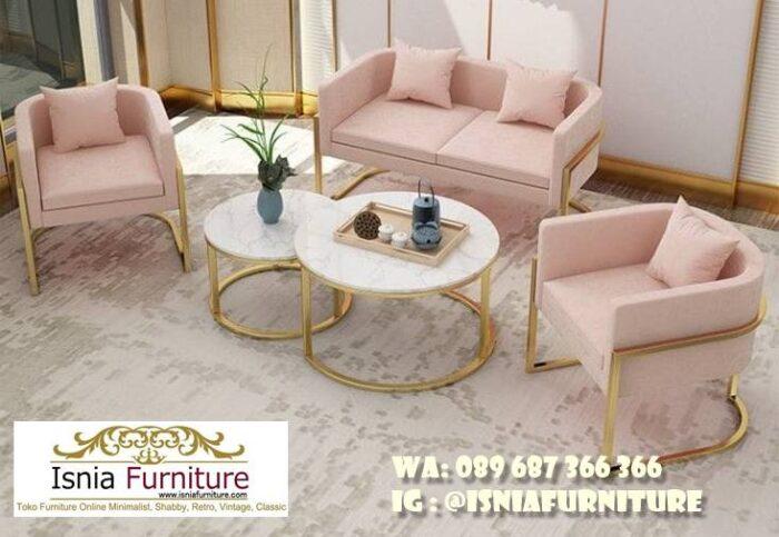 sofa-elegan-minimalis-desain-kaki-stainless-gold-mewah-700x483 Sofa Elegan Minimalis Murah Paling Terpopuler