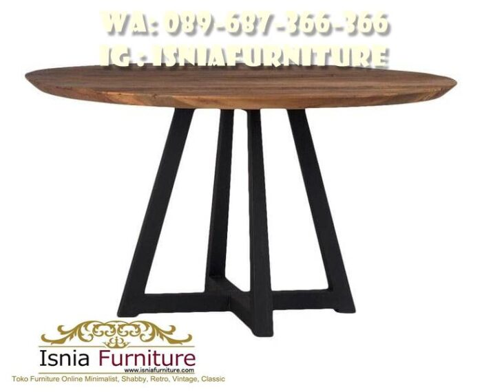 kaki-meja-makan-besi-bentuk-bulat-700x570 Kaki Meja Makan Besi Anti Karatan Terjangkau