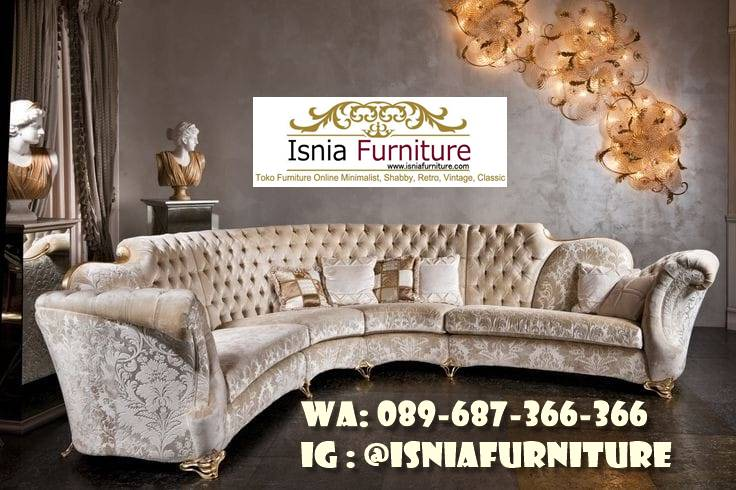 Sofa L Mewah Luxury Klasik Harga Terjangkau