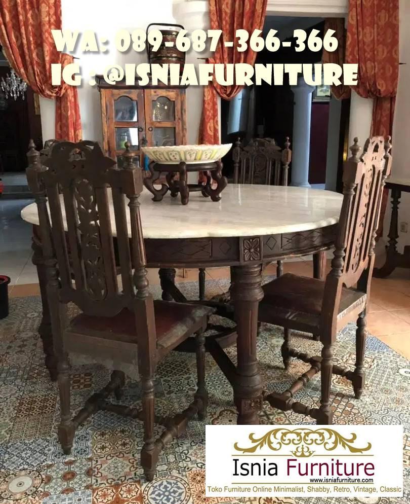 meja-makan-marmer-antik-minimalis-murah Meja Makan Marmer Antik Harga Langsung Dari Pengrajin